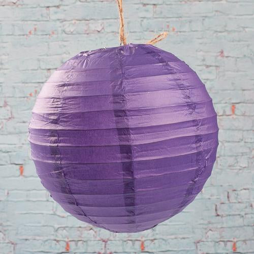 "Richland Round Chinese Paper Lanterns 8"" Purple Set of 10"