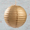 "Richland Round Chinese Paper Lanterns 8"" Gold Set of 10"