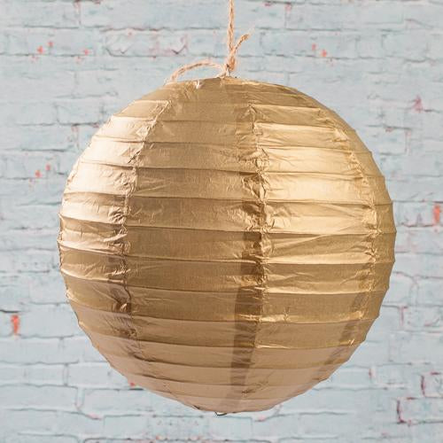 "Richland Round Chinese Paper Lanterns 8"" Gold"