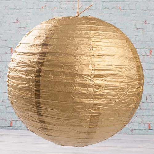 "Richland Round Chinese Paper Lanterns 12"" Gold"