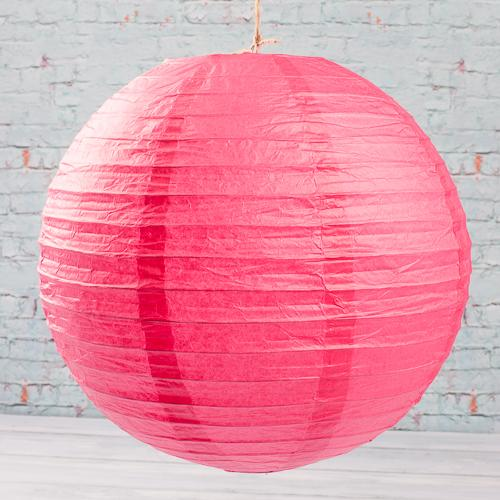 "Richland Round Chinese Paper Lanterns 12"" Fuchsia Set of 10"