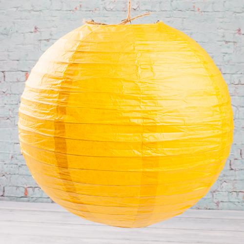 "Richland Round Chinese Paper Lanterns 12"" Yellow"