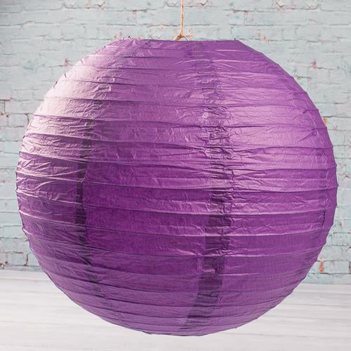 "Richland Round Chinese Paper Lanterns 16"" Purple Set of 10"