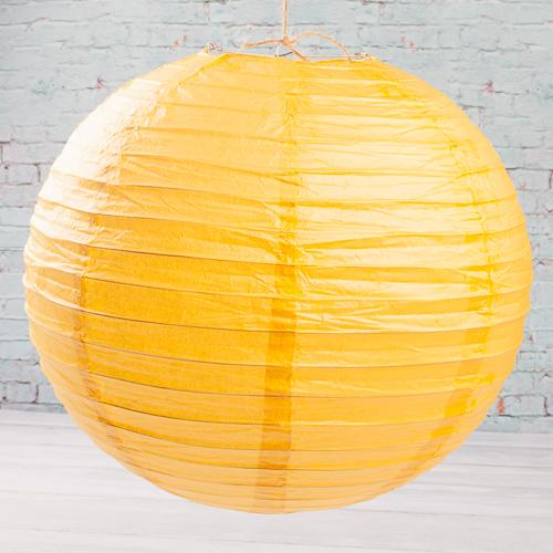 "Richland Round Chinese Paper Lanterns 16"" Yellow Set of 10"