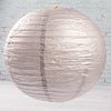 "Richland Round Chinese Paper Lanterns 16"" Silver Set of 10"