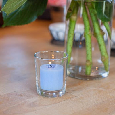 richland votive candles light blue ocean breeze scented 10 hour set of 288