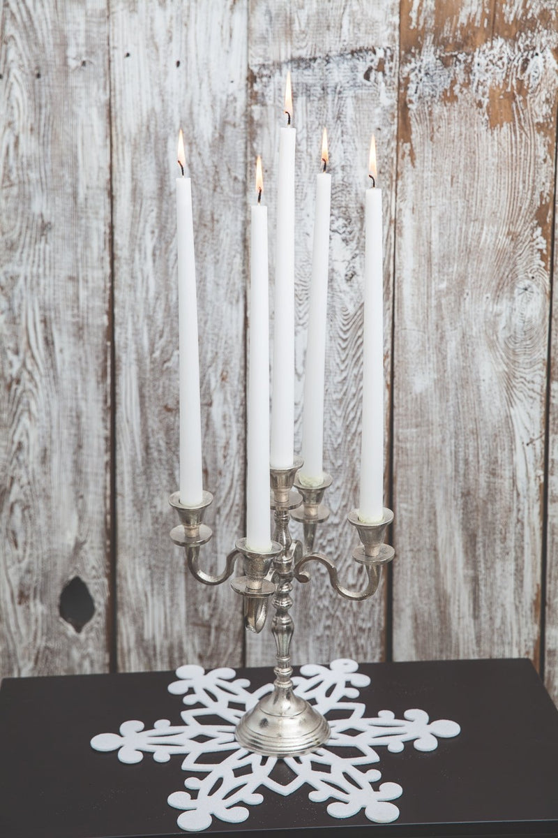 richland taper candles 14 white set of 10
