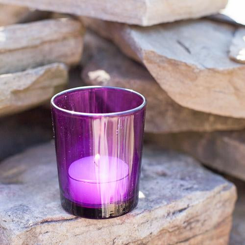 eastland votive holder purple set of 72