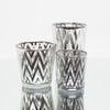 richland silver chevron glass holder large set of 6
