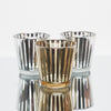 Richland Silver Stripe Glass Holder - Medium Set of 6