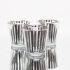 richland silver stripe glass holder medium set of 6