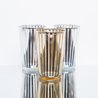 richland silver stripe glass holder large set of 48
