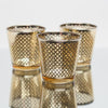 Richland Gold Lattice Glass Holder - Medium Set of 48