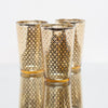 richland gold lattice glass holder large set of 48