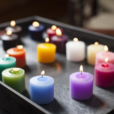 set of 72 assorted 10 hour unscented richland votive candles