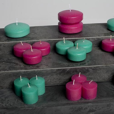 richland votive candles unscented hot pink 10 hour set of 144