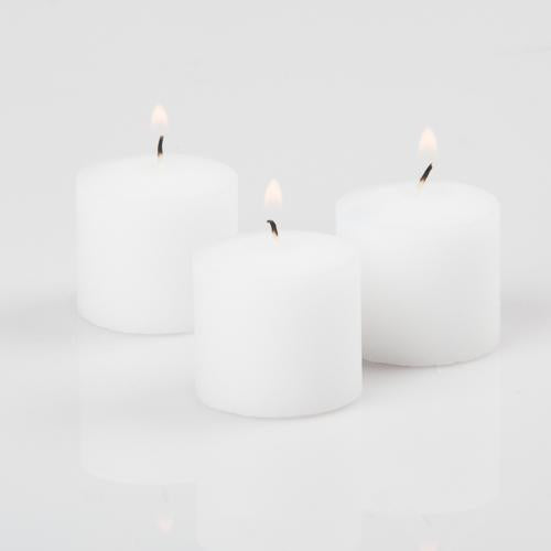 Richland Votive Candles Unscented White 10 Hour Set of 72