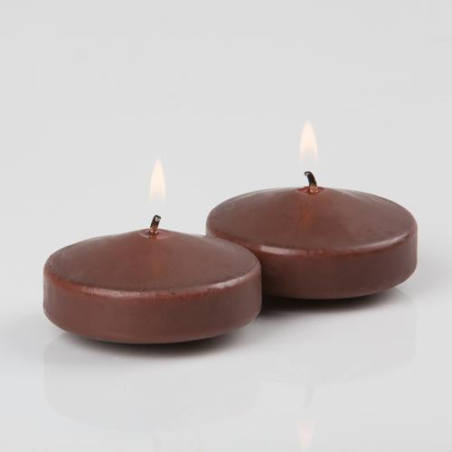 richland floating candles 3 brown set of 24