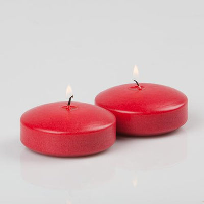 richland floating candles 3 red set of 24