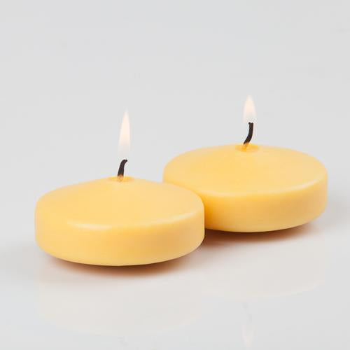 richland floating candles 3 yellow set of 12