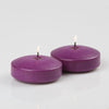 richland floating candles 3 purple set of 72