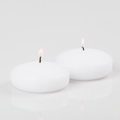 "Richland Floating Candles 3"" White Set of 12"