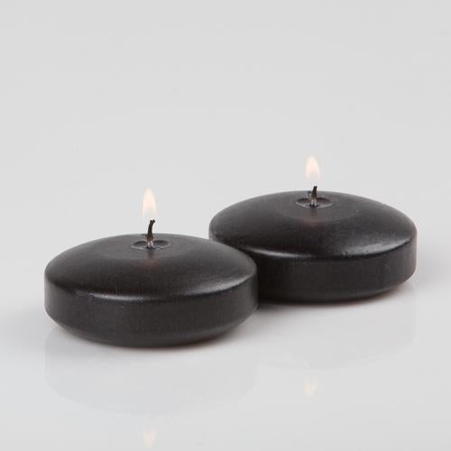 "Richland Floating Candles 3"" Black Set of 24"