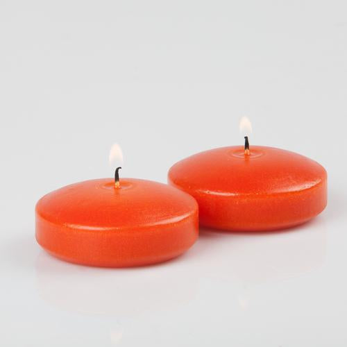 "Richland Floating Candles 3"" Orange Set of 24"