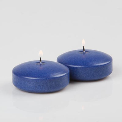 richland floating candles 3 navy blue set of 72