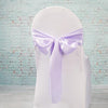 "Richland 6""x108"" Lavender Satin Chair Sash Set of 10"