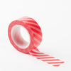 Richland Washi Tape Red Stripe 30 Feet Set of 5