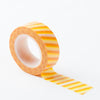 Richland Washi Tape Orange Stripe 30 Feet Set of 5