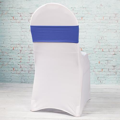 Richland Royal Blue Spandex Chair Band Set of 10