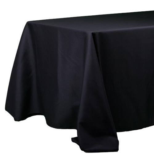 "Richland Rectangle Tablecloth 90""x132"" Black Set of 10"