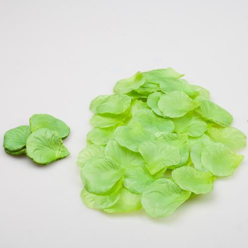 Richland Silk Rose Petals Green 10,000 Count