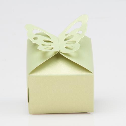 Richland Pearl Green Butterfly Top Favor Box Set of 100