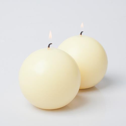 "Richland Sphere Candle 3"" Ivory"