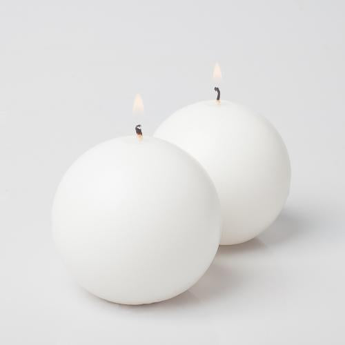 "Richland Sphere Candle 3"" White Set of 12"