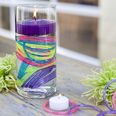 "Richland Floating Candles 3"" Purple Set of 24"