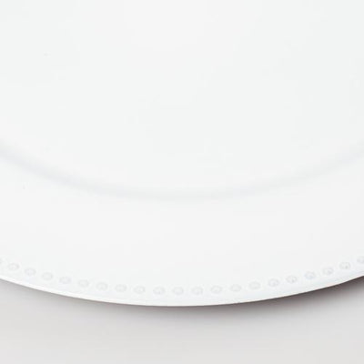 richland beaded charger plate 13 white