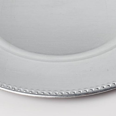 richland beaded charger plate 13 silver set of 48