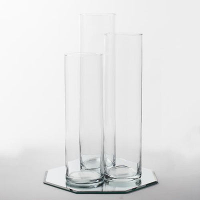 eastland 12 mirror and tall cylinder vase centerpiece set of 36