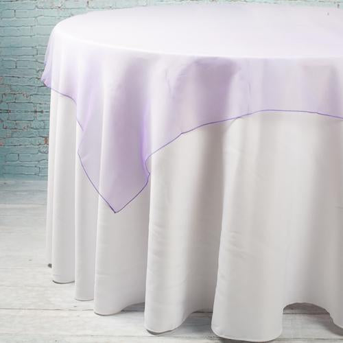 "Richland 60"" x 60"" Purple Organza Table Overlay"