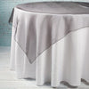 "Richland 60"" x 60"" Black Organza Table Overlay"