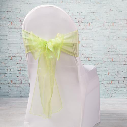 "Richland 7""x108"" Sage Organza Chair Sash Set of 10"