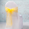 "Richland 7""x108"" Gold Organza Chair Sash Set of 10"
