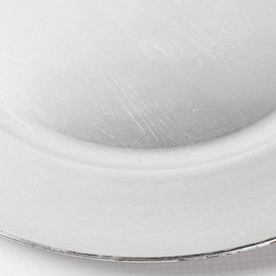 richland plain charger plate 13 silver set of 48