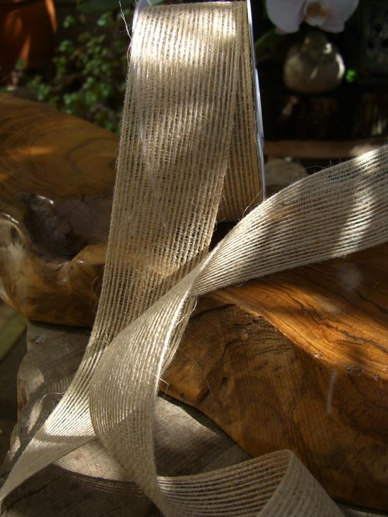 natural jute ribbon 1 5 x 10yds