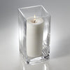 "Richland Pillar Candle 6"" & Eastland Square Holder 8 inch Set of 12"