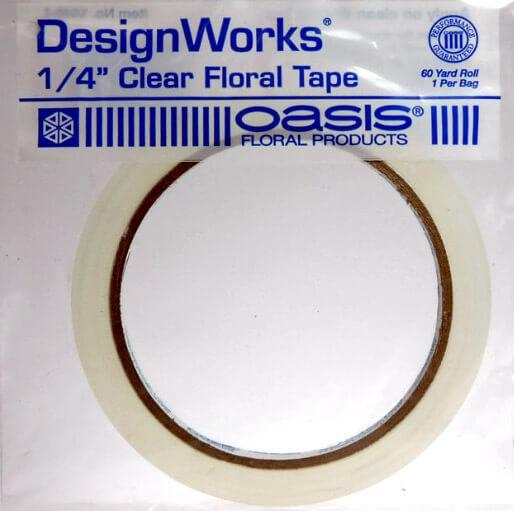 "Oasis Clear Floral Tape - 1/4"" x 60 yds"